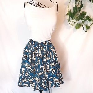 Forever 21 Flare Skirt with Waist Tie and Pockets!
